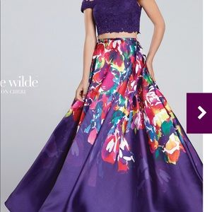 Dresses & Skirts - Ellie Wilde new prom dress size 4 purple NWT gown